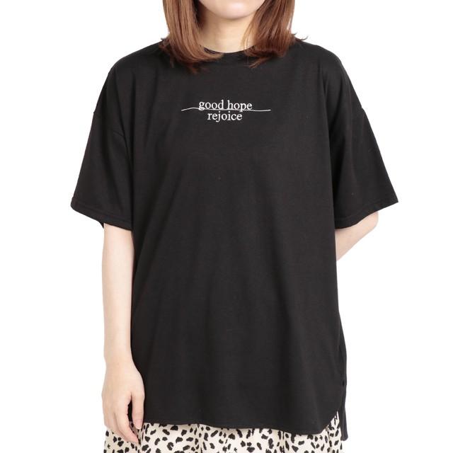 TC天竺ロゴTシャツ刺繍Tシャツ FLM-89070-A