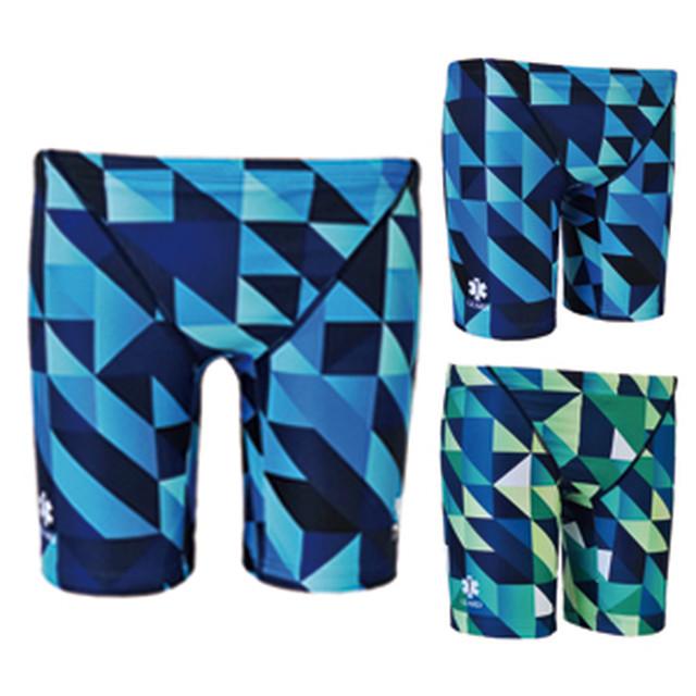 GUARD(ガード)×TYR(ティア) メンズ水着 幾何学模様  メンズジャマー ハーフパンツ gud-jge017bl 競泳 ブランド