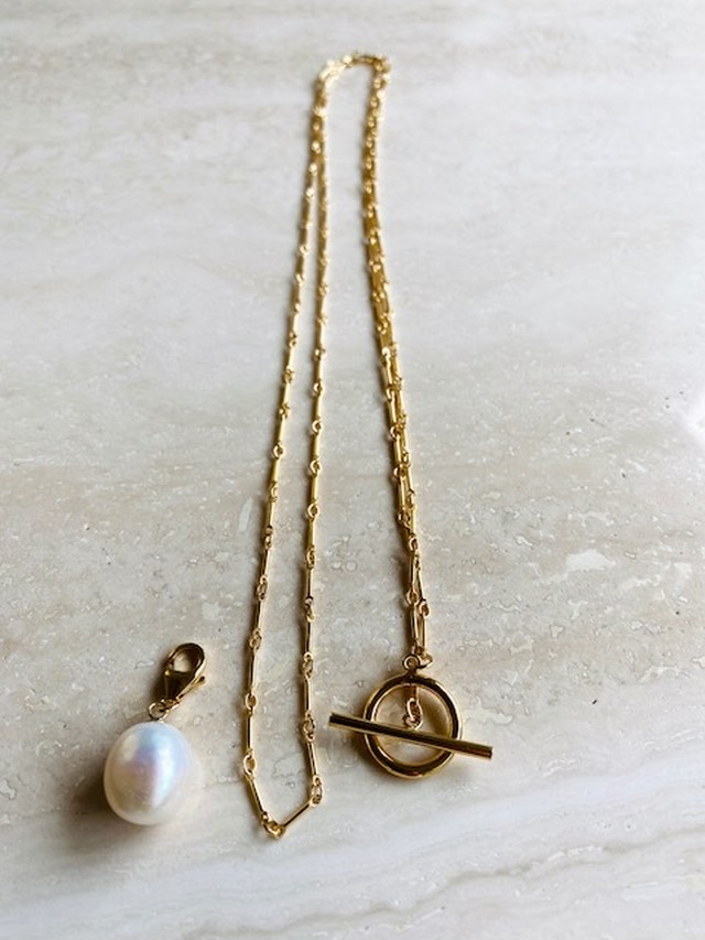 3way long pearl necklace
