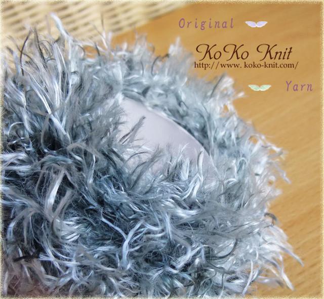 §koko§ 癒し〜ふわふわ〜1玉25g以上 ファー、ラメ、引き揃え糸、毛糸  オリジナル編み糸