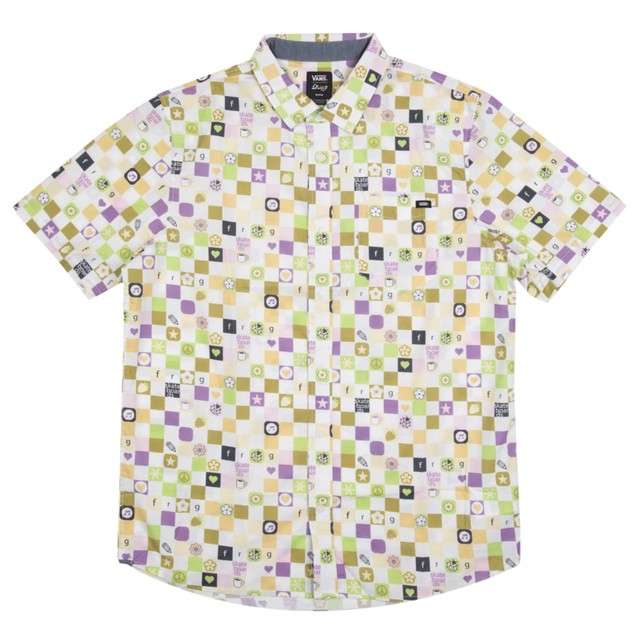 VANS × FROG SKATEBOARDS S/S SHIRT WOVEN WHITE