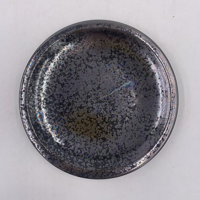 【陶あん】outlet京焼 清水焼 星結晶(くろ)24㎝丸皿*限定2枚*