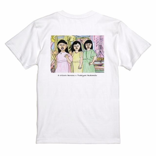 【3 o'clock Heroine × Yoshiyuki Hashimoto】Tシャツ ホワイト