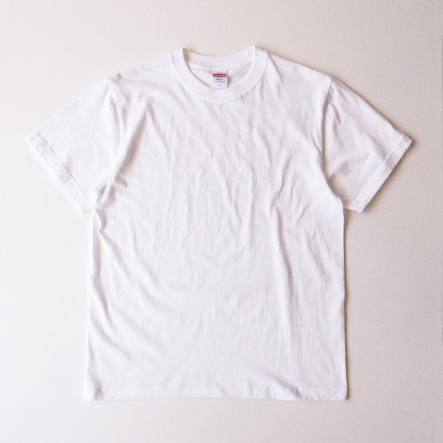 Tシャツ メッセージ ホワイト(T00012-01)