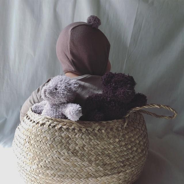 (即納) Kuma tulle pompom bonnet (ボンネット/ココア) pee ka boo : JPK03MBX0021311_122