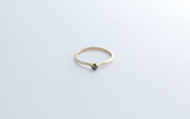 光風リング(ローズカットダイヤモンド)
