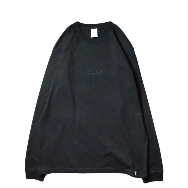 BASIC LOGO Hard works L/S CT【T.Black×Black】 - メイン画像