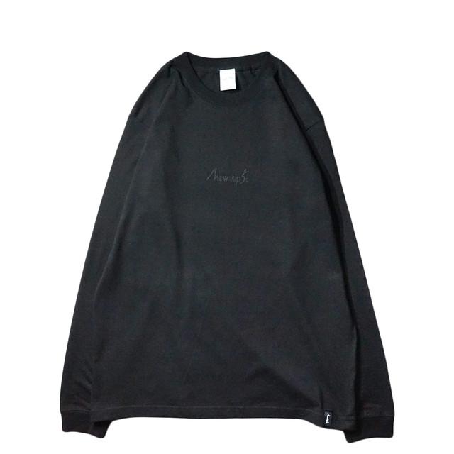 BASIC LOGO Hard works L/S CT【T.Black×Black】 - メイン画像