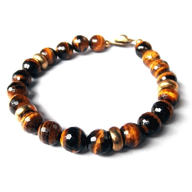 "Golf Ball Bracelet ""Tiger Eye"" / ゴルフ / ブレスレット"