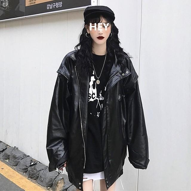 【アウター】個性無地ストリート系PUジャケット25968944