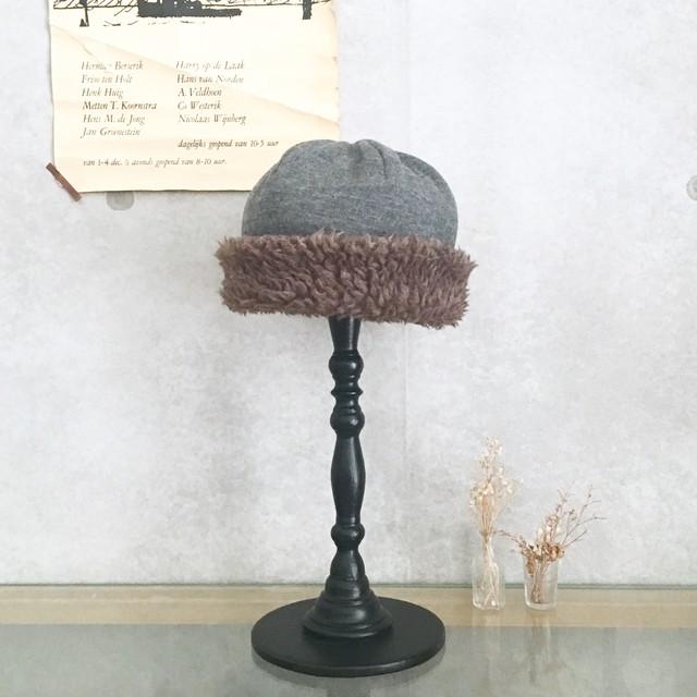 mature hood cap《グレー》