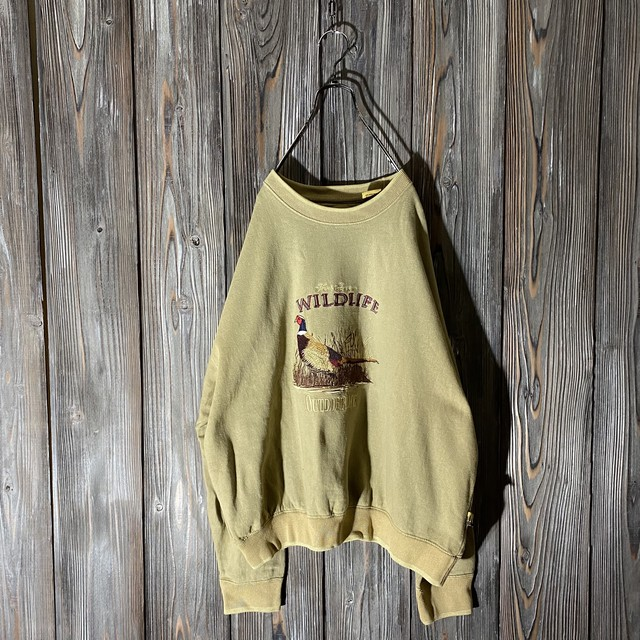 [used]wildlife embroidery sweat