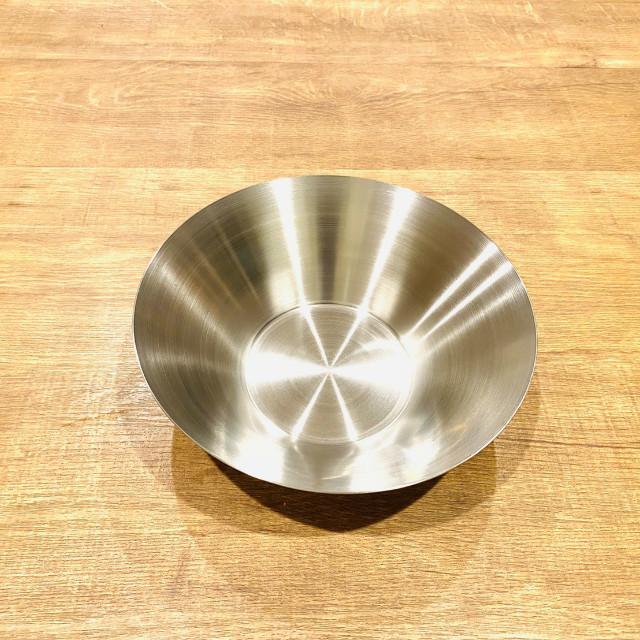 韓国ステンレス食器/お皿/(2号)【直径21㎝/高さ6.5㎝】
