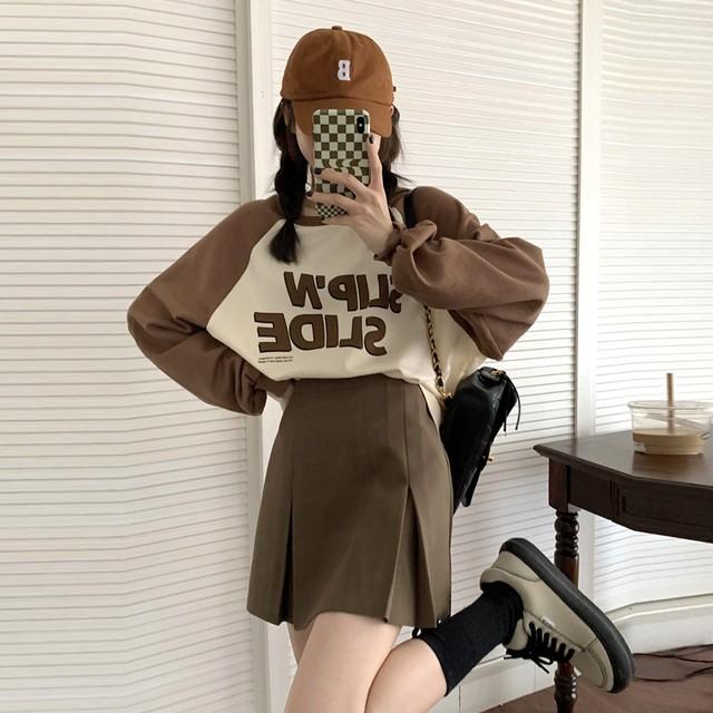 セットアップ ロングスリーブブラウス+ミニスカート SHT582601