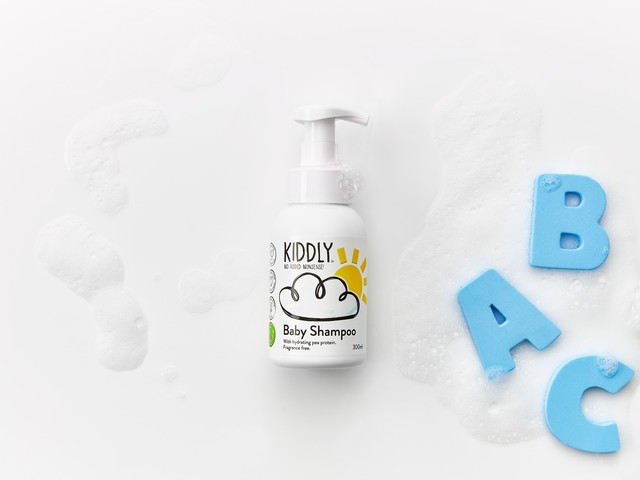 KIDDLY(キドリー) Baby Shampoo 天然由来ピープロテイン配合 オーガニックベビーシャンプー 泡タイプ 0か月~