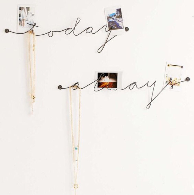 Urban Outfitters Plum & Bow Wire Text Wall Art