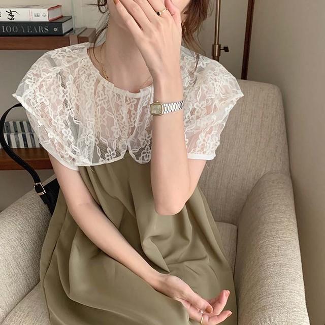 lace shirt + suspender skirt set 2c's
