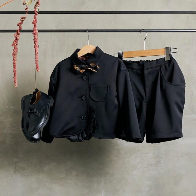 6.【レンタル】フリルジャケットスーツ(ブラック・Mサイズ110~120)