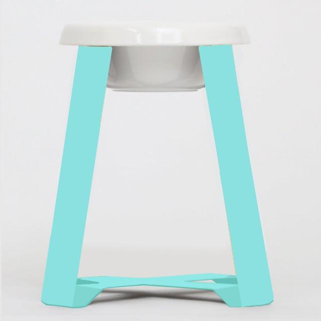 【予約】Pecolo Food Stand LLtallセット 犬の生活限定色 ティファニーブルー+フードボウル陶器深型