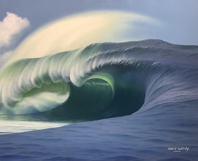 Dreamland Wave Art F15(Monster Swell in Teahupoo Tahiti )