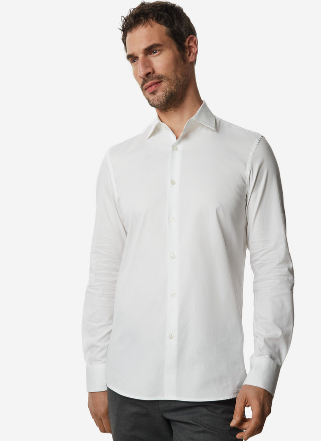 WHITE SHIRT WITH TEXTURE