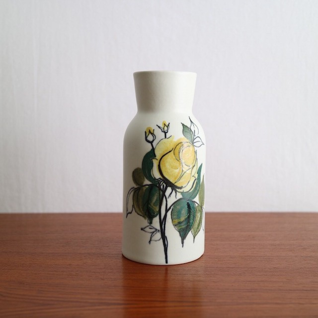 Arabia Kukka Vase 100/2 Yellow Flower