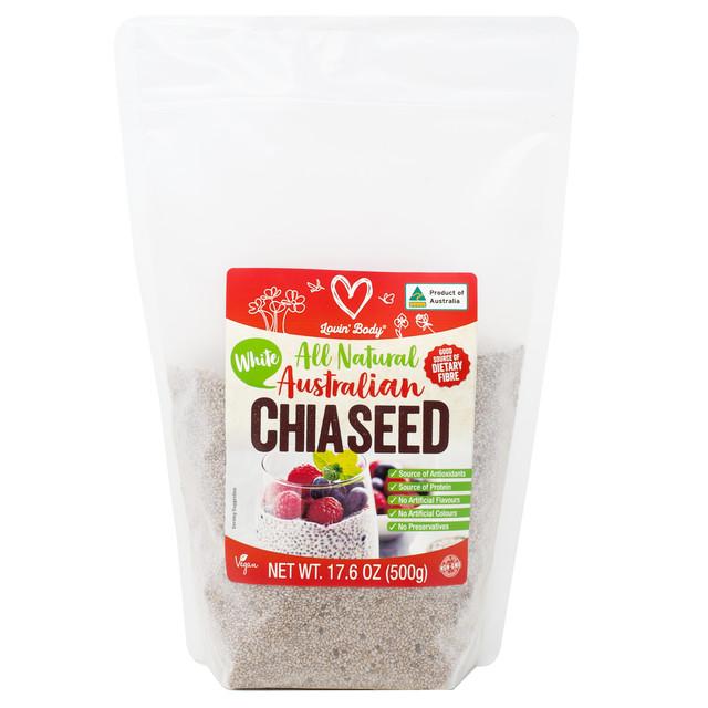 シェフズチョイス ホワイトチアシード 500g Chef's choice Australian White Chia Seed