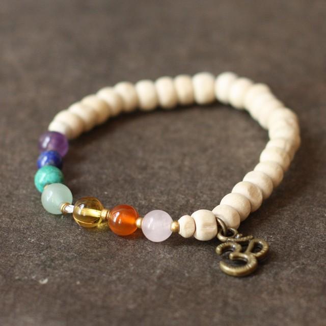ブレスレット -jade × labradorite × smoky quartz-