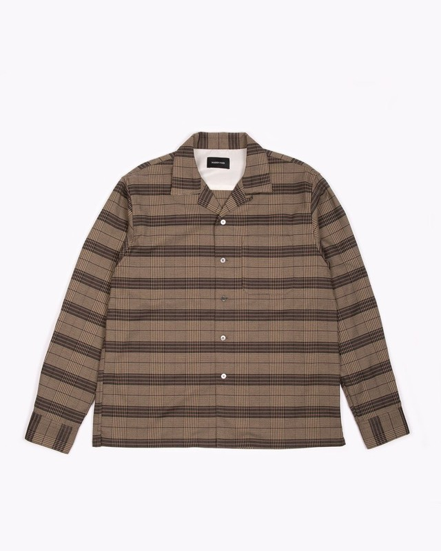 MAIDEN NOIR LS PLAID SHIRT - OLIVE PLAID