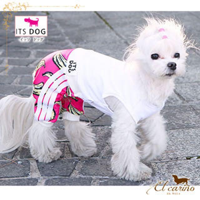 3。犬 服 韓国 つなぎ ネイビー ホワイト ストライプ 袖なし 春 夏 秋物