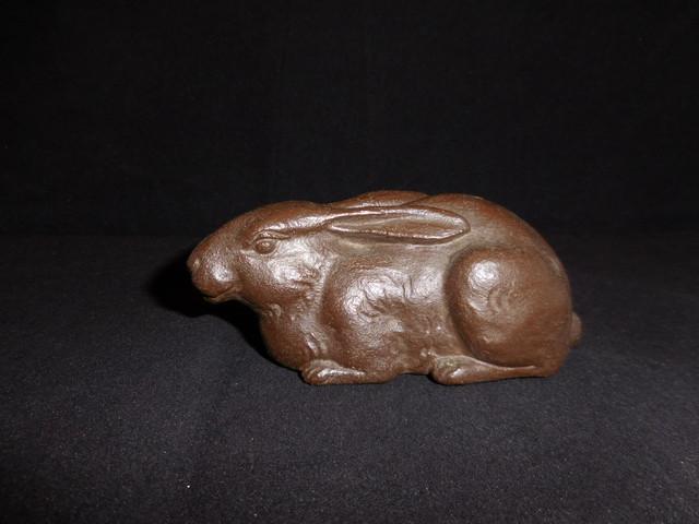 鉄製兎 an ornament iron rabbit(No2)
