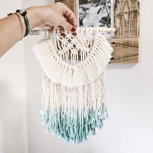 Macrame mini wallhanging - bohemian beach series 005 -