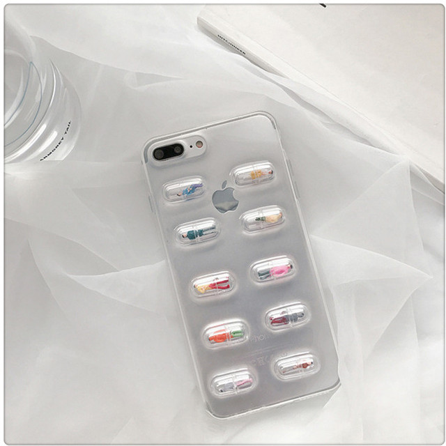 【iPhone12シリーズ/SE2対応】ユニーク!カプセルイン人間?!デザインスマホケース(SPCa0047)◆iPhoneケース/スマホケース