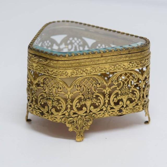 イギリス vintage  ジュエリーボックス Crowns and Regalia アクセサリーボックス