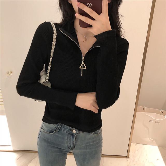 【tops】着やせ合わせやすいファスナー飾り3色セーター 23807976
