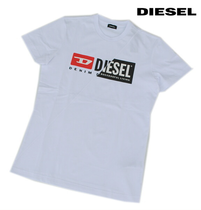 DIESEL ディーゼル Tシャツ 半袖 プリント Tシャツ メンズ T-DIEGO-CUTY WHITE 2020 秋モデル 送料無料