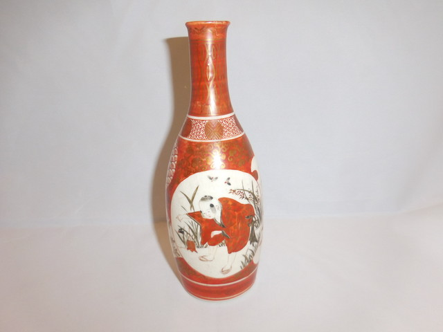 九谷徳利 Kutani porcelain sake bottle