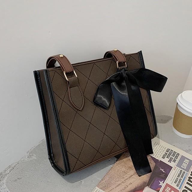 【バッグ】ファッションリボン幾何模様ファスナー肩掛けボディバッグ41783265