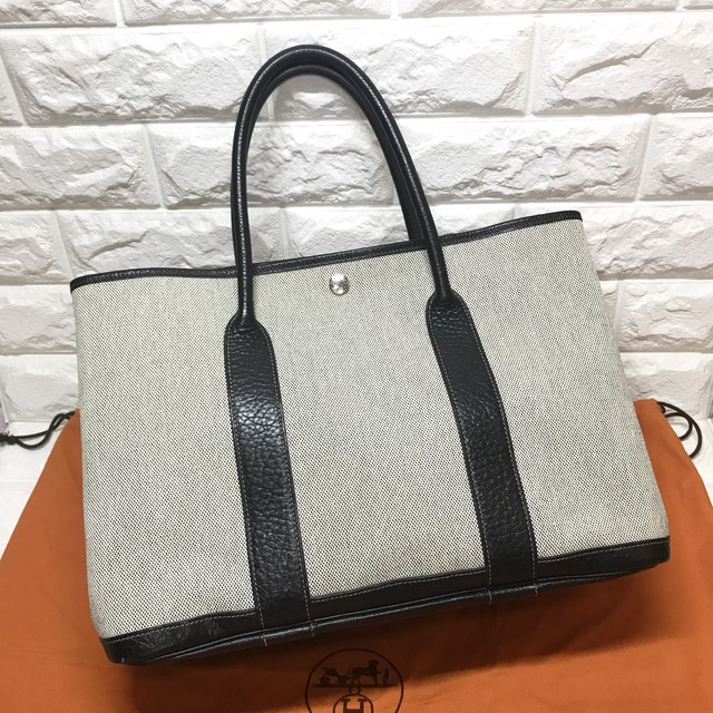 check out d1502 f1ebb HERMES エルメス ガーデンパーティPM キャンバス トートバッグ | Unique Brand Shop《ルイヴィトン多数出品中》  powered by BASE