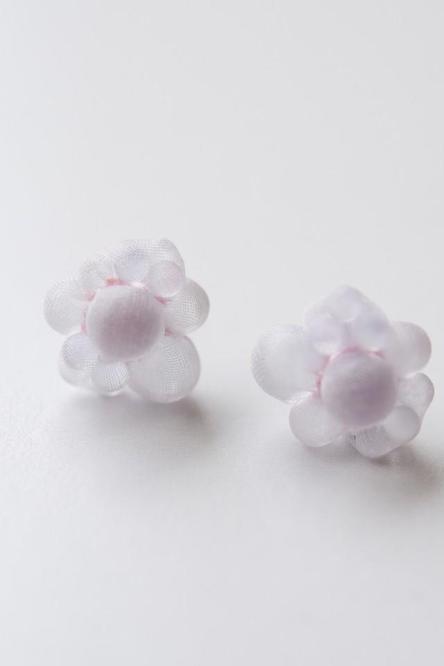 ミズイロトシロ ピアス「bubble(バブル / light pink)」