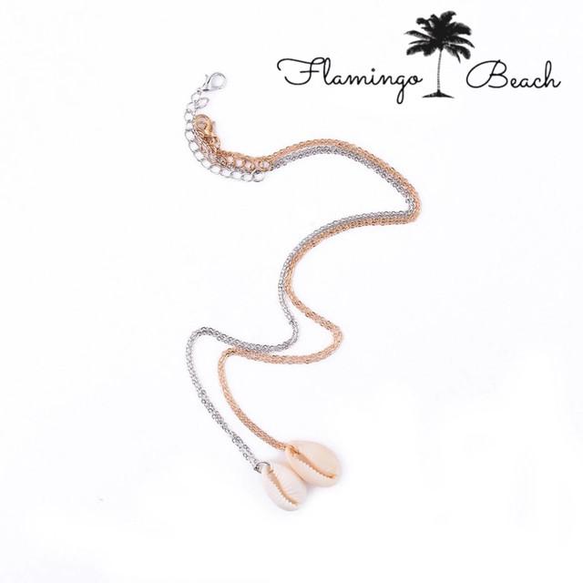 【FlamingoBeach】shell ネックレス
