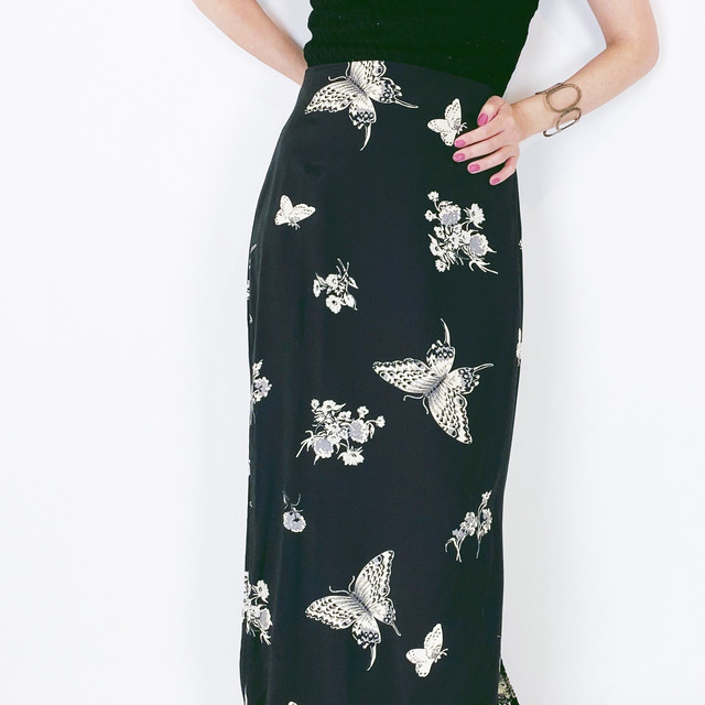 ◼︎90s floral & butterfly print maxi skirt◼︎