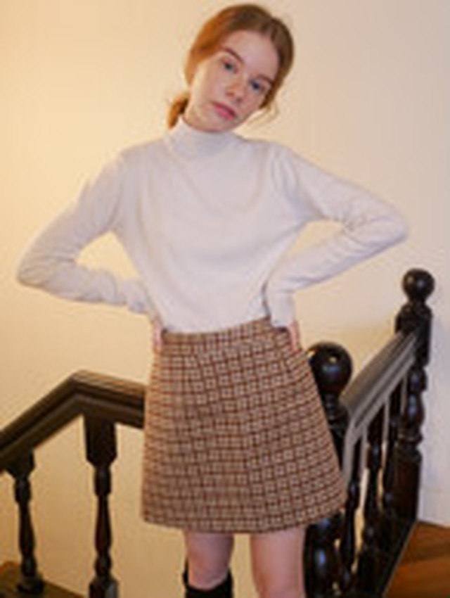 【KissMeLove】Wool tight skirt