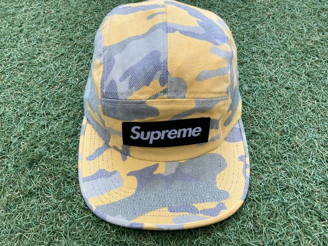 Supreme WASHED OUT CAMO CAMP CAP YELLOW 57726