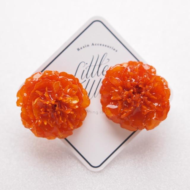 【LittleWitch】マリーゴールドイヤリング/オレンジ