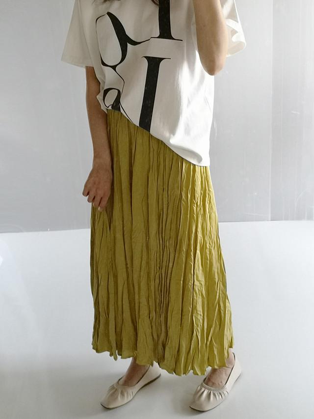 きれい色 プリーツスカート カジュアル ミドル丈★3色