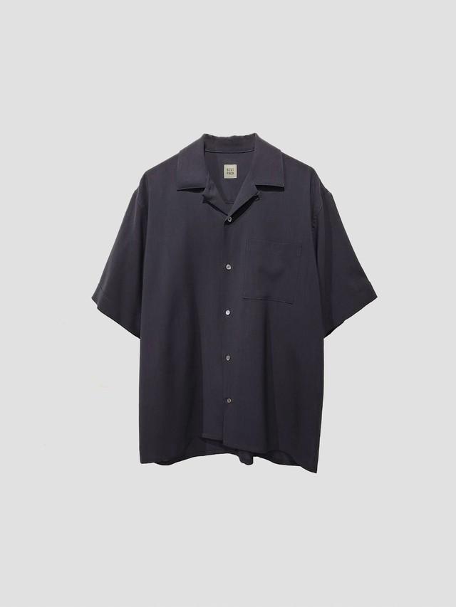 BEST PACK S/S Summer Wool Shirt Navy BPS-20H-021-3