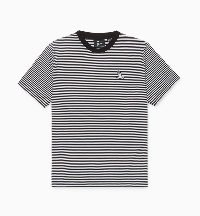 BY PARRA STATIC FLIGHT STRIPED T-SHIRT