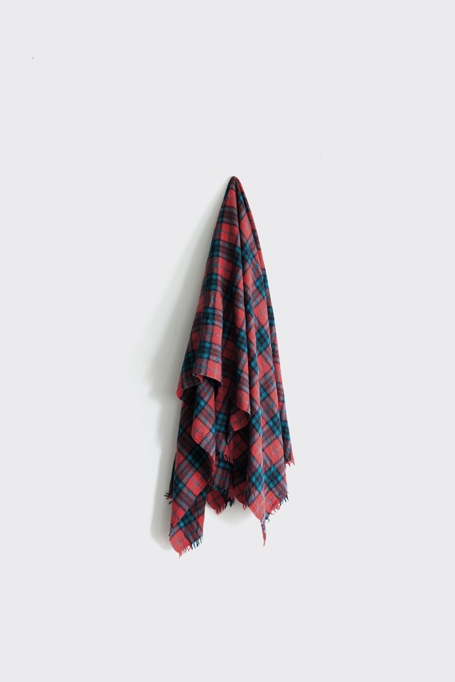 01291-1 tartancheck stole / red,turquoise,navy