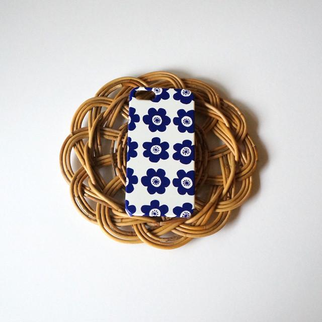 ハード型スマホケース anemone ( deep blue )【iPhone/Android 各機種対応】